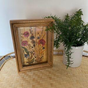 Vintage Shadowbox of Dried Flowers